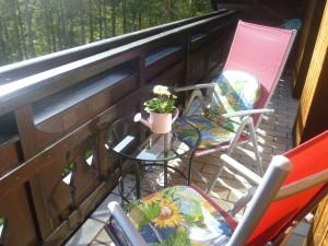 Sitzgelegenheit am Balkon